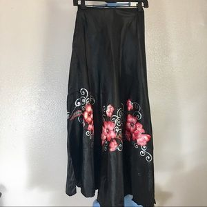 Hand painted maxi skirt xs